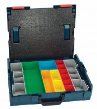 Bosch L-BOXX-1A - Bosch L-BOXX-1A 17-1/2 In. x 14 In. x 4-1/2 In. Stackable Carrying Case with 13 pc. Insert Set