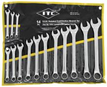 SureWerx 20210 - 14 PC S.A.E. Polished Combination Wrench Set