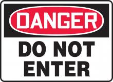 "Accuform MADM138VS - Safety Sign, DANGER DO NOT ENTER, 7"" x 10"", Adhesive Vinyl"