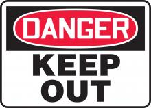 "Accuform MADM145VS - Safety Sign, DANGER KEEP OUT, 7"" x 10"", Adhesive Vinyl"