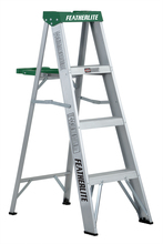 Louisville Ladder Corp 2404 - Featherlite 4-ft Aluminum Stepladder 225 lbs duty rating TII