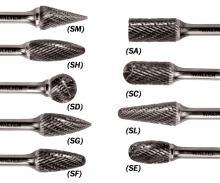 Pack of 1 1//4 x 5//8 STD Lenght Allsteel 01W317 SL-1 Carbide Burr
